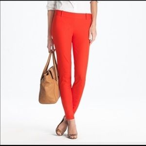 J Crew Minnie red cropped pants   size 4